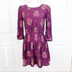 Kimchi Blue Floral Long Sleeve Dress